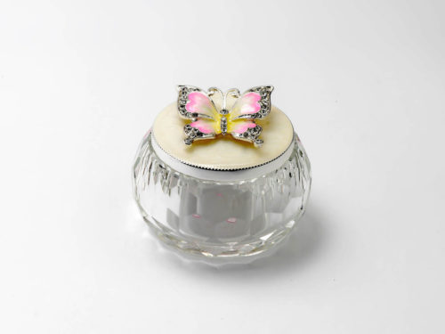 Crystal Butterfly Enameled Jewelry Box