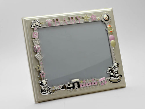 silver_enameled_children_photo_frame_on_wood_one