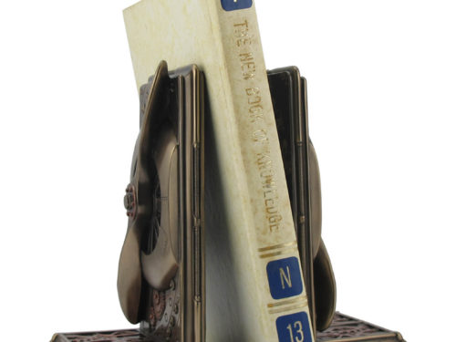Steampunk Propeller Book Holder Stand