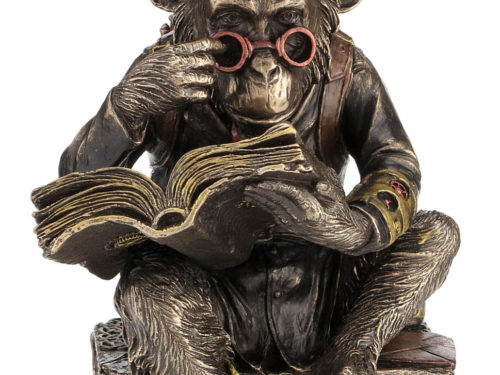 Steampunk Scholar Chimpanzee Showpiece