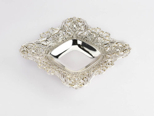 square_antique_cutwork_silver_bowl