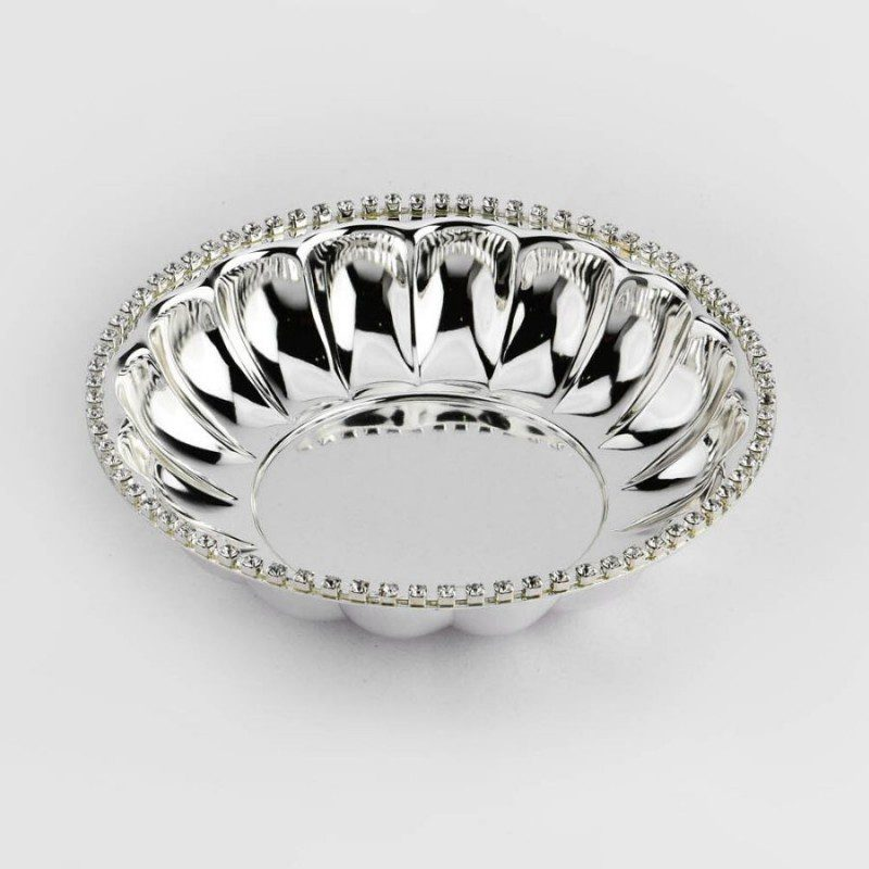 Crystal Rim Silver Fruit Bowl
