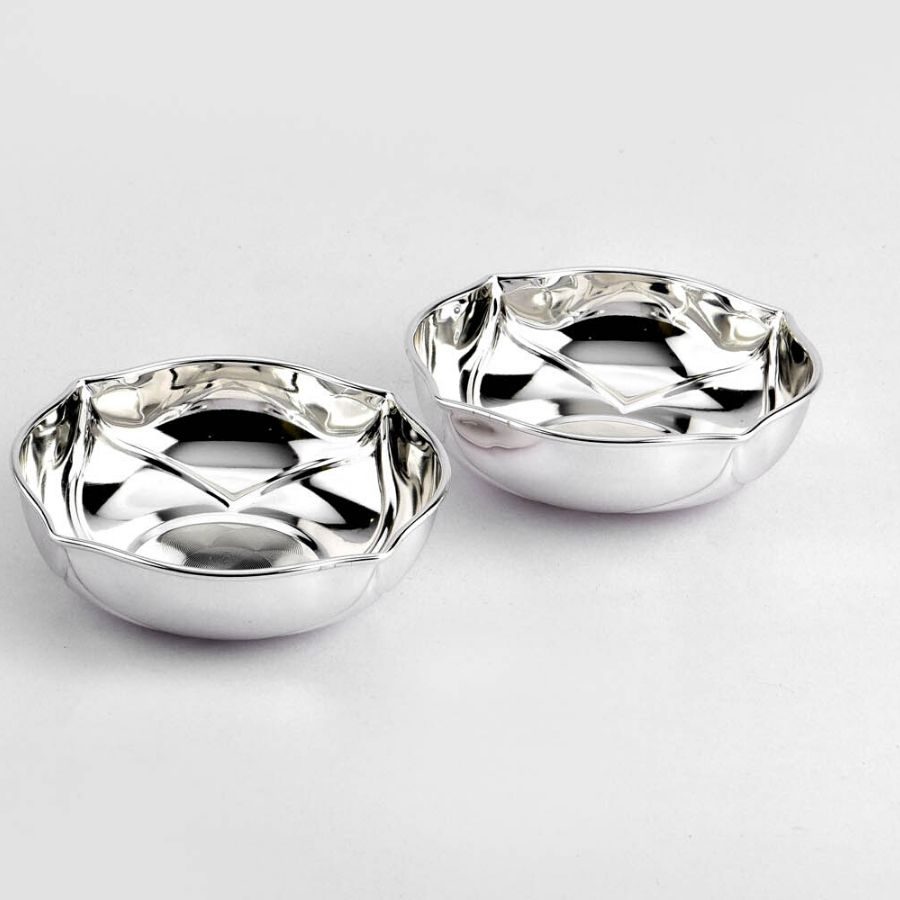 Fluted Silver Plated Bowl Set
