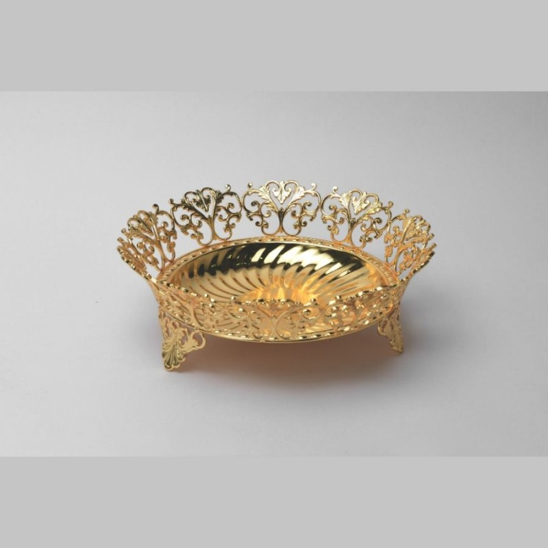 Round Wire Motif Golden Bowl