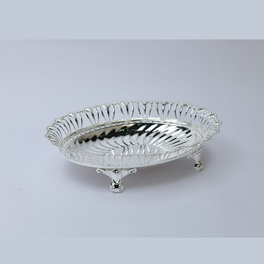Oval Wire Silver Bowl,Size-Medium