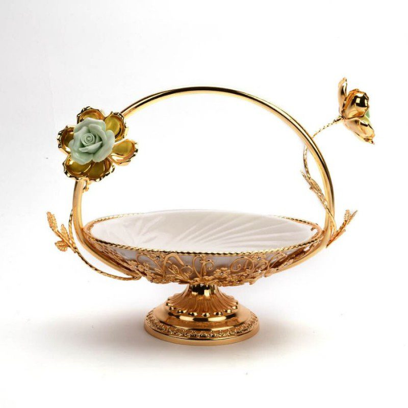 Gold Basket, silver pooja basket, silver flower basket price