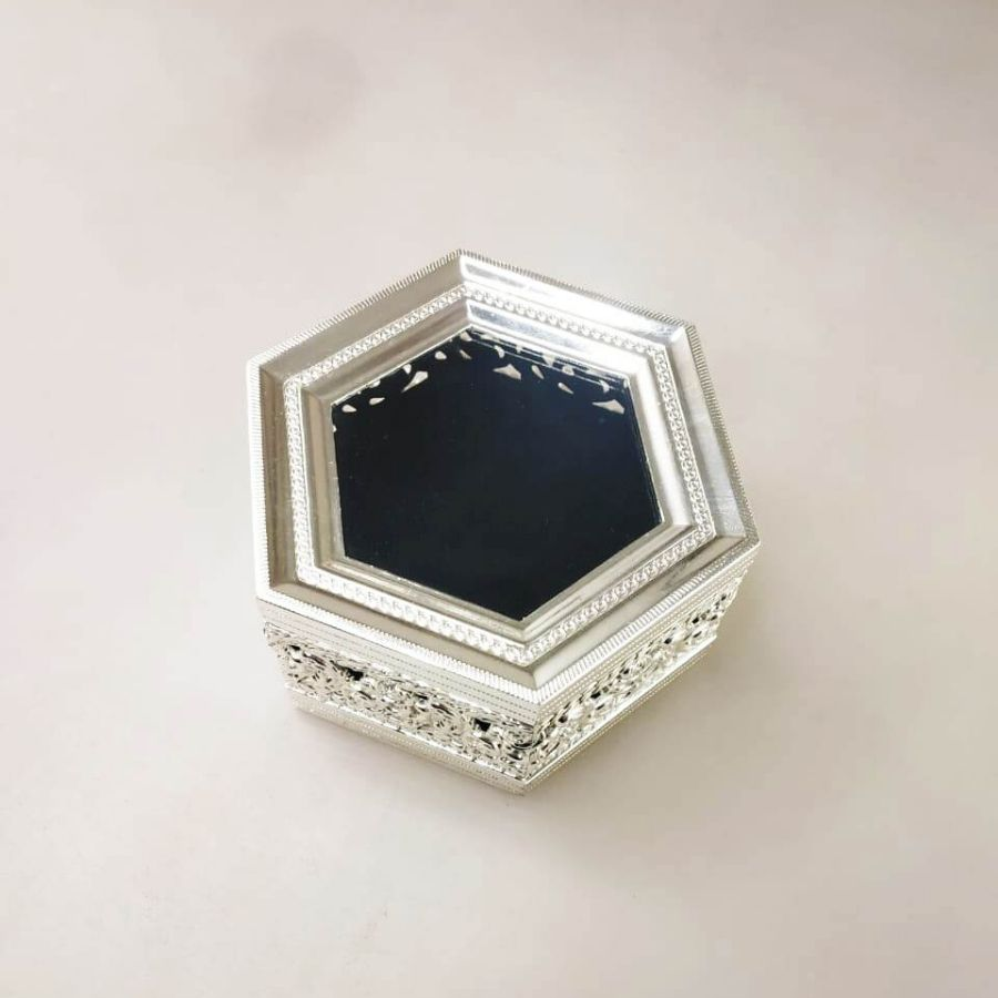 silver plated dry fruit box, silver box jewelry, german silver dry fruit box, silver plated jewelry box,