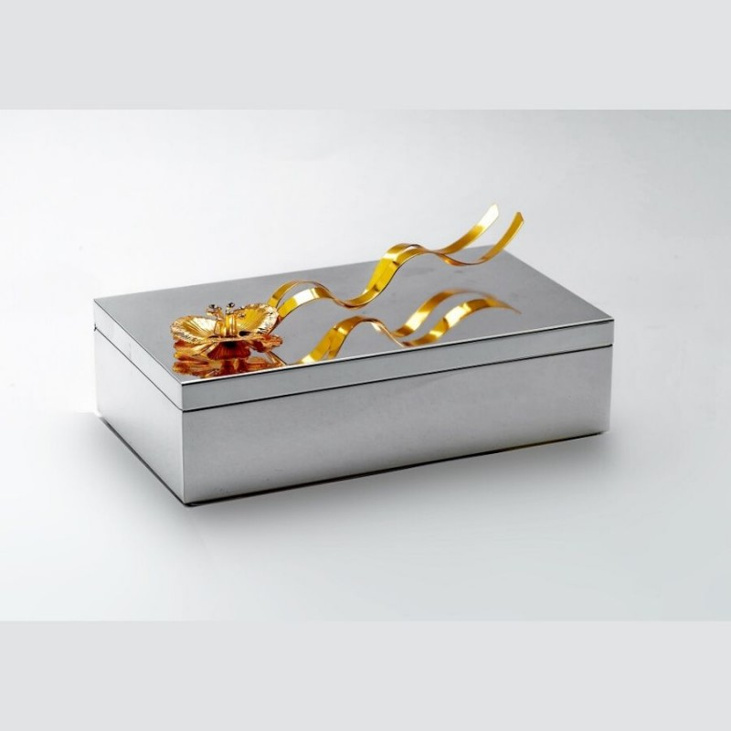 Golden Flower Silver Box