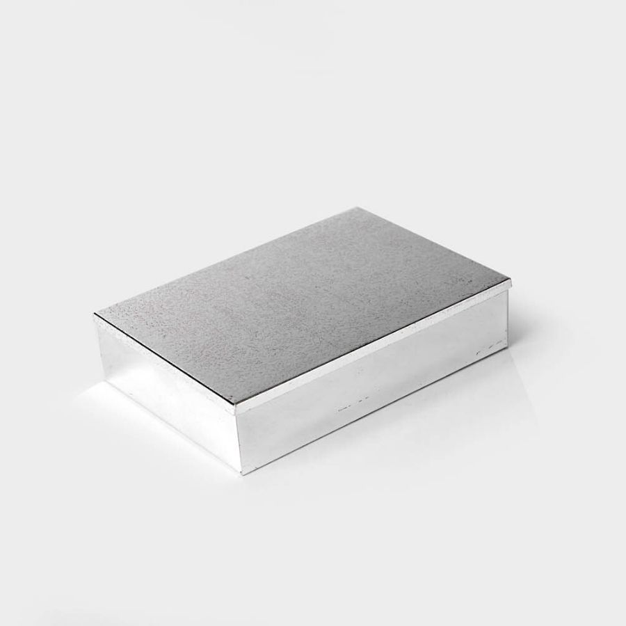 Rectangle Shaped Hammered Silver Box