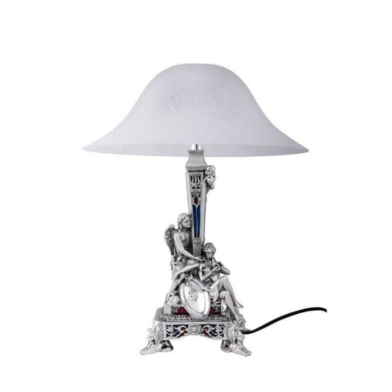 enameled-roman-couple-silver-table-lamp