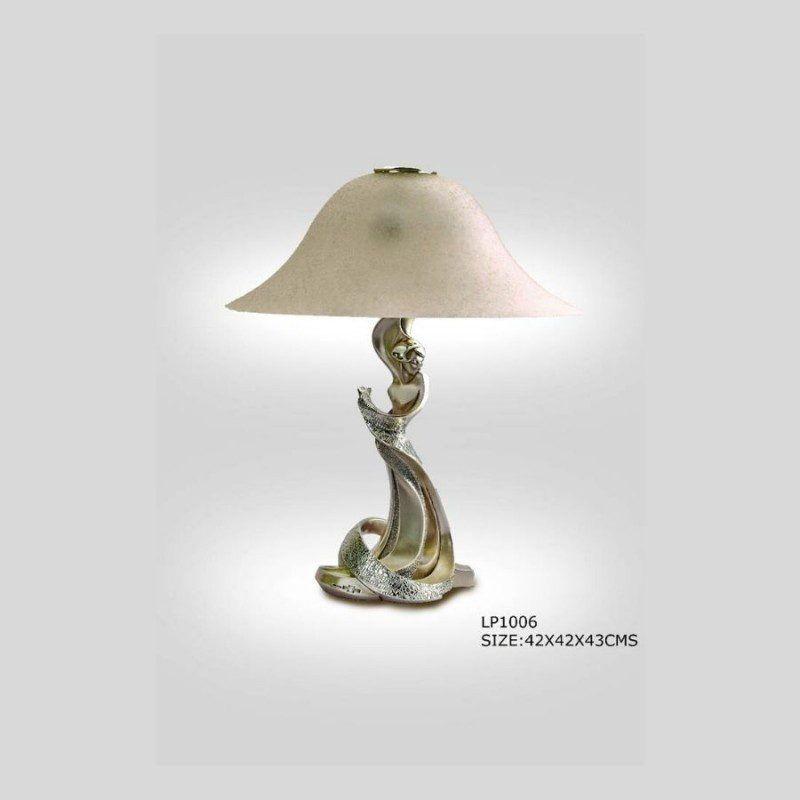lady-statue-silver-table-lamp