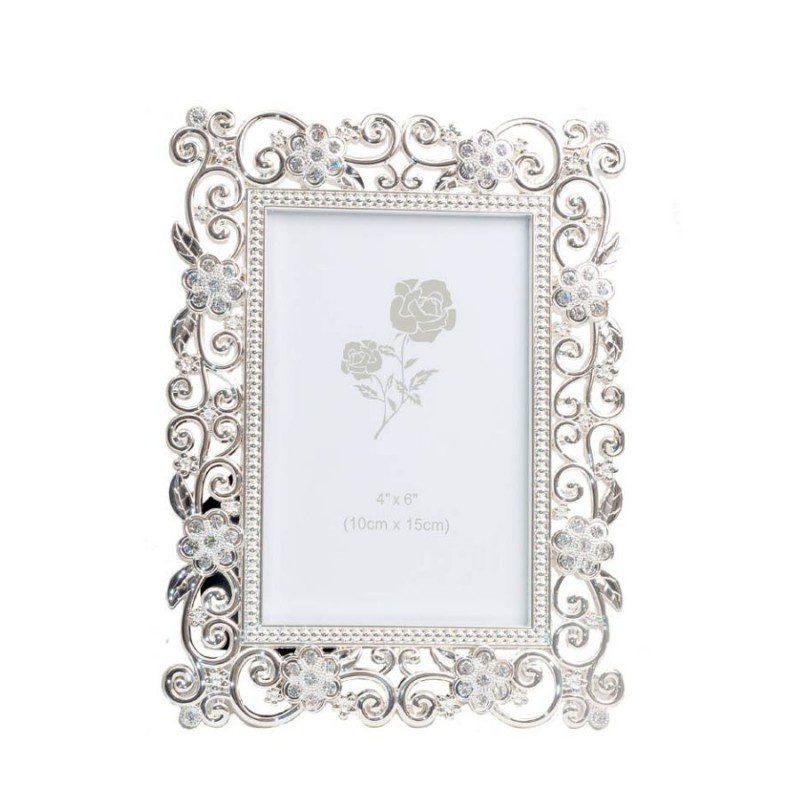 Enameled Photo Frame with Crystal