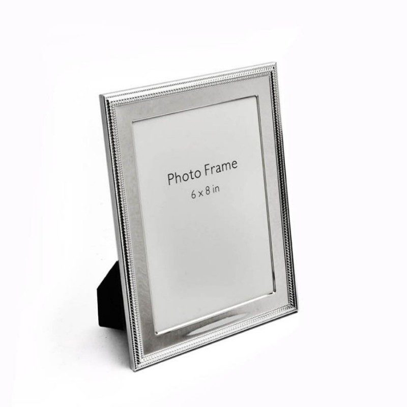 Beads & Spiral Design Silver Photo Frame, Size-6x8