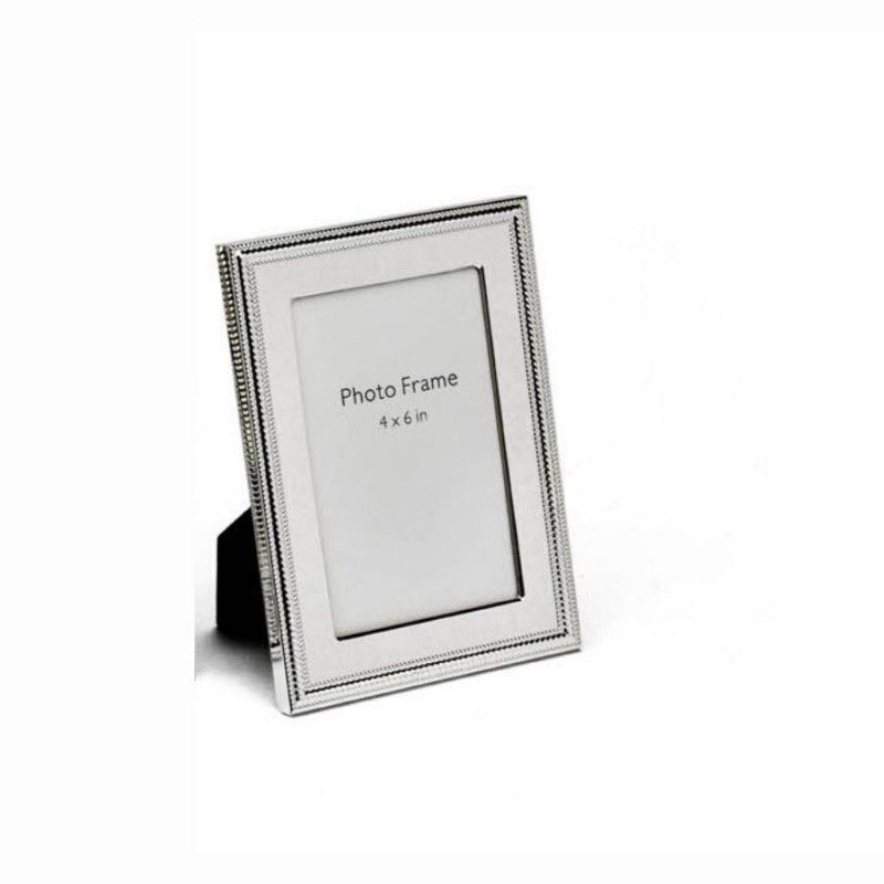 Beads & Spiral Design Silver Photo Frame, Size-4x6