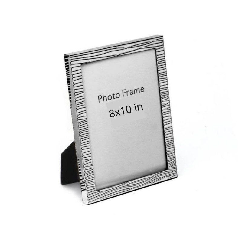Modern Fluted Texture Silver Photo Frame, Size-8x10