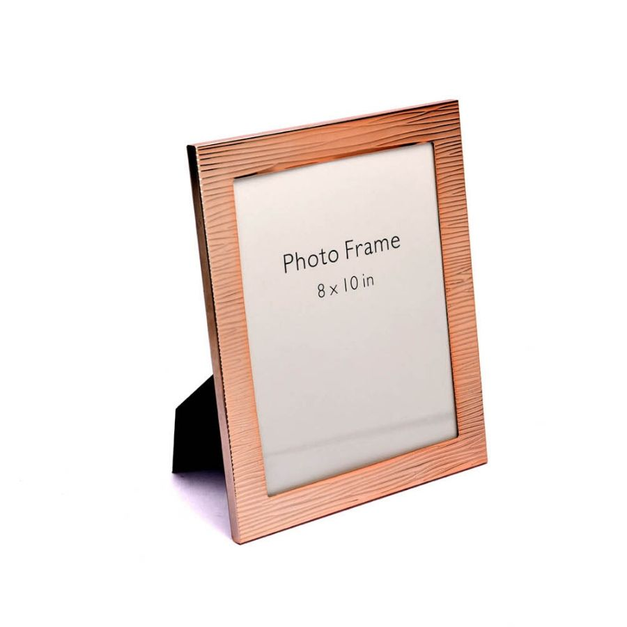 Rose Gold Fluted Design Photo Frame, Color-Rose Gold, Size-8x10