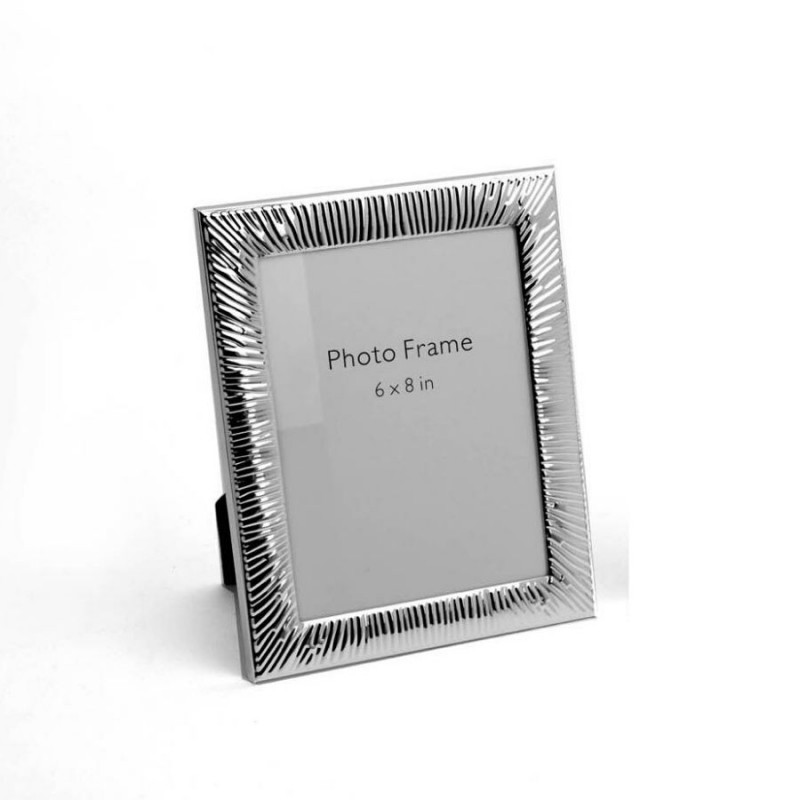 Groovy Design Silver Photo Frame, Color-Silver, Size-6x8