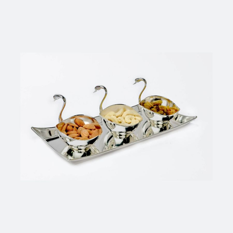 Duck Bowl and Tray Set (Set of 3)