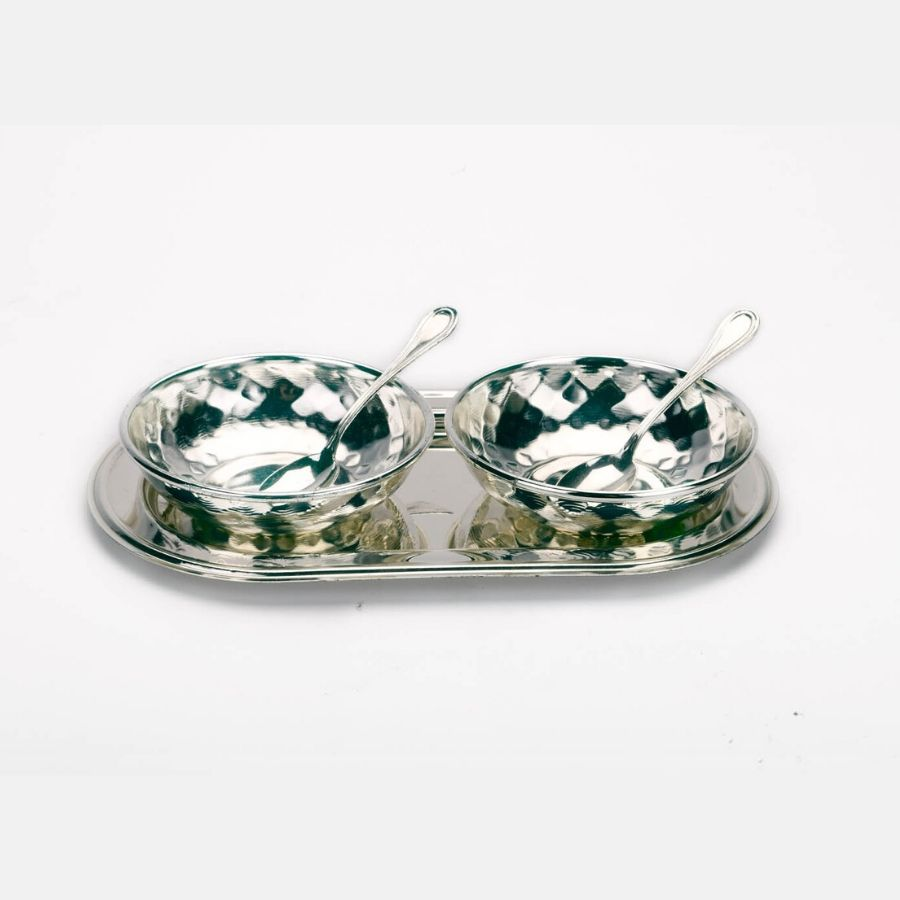 hammered-design-bowls-with-oval-tray-set-of-2