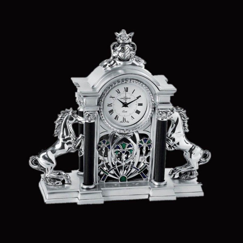 roman-horses-unique-silver-clock