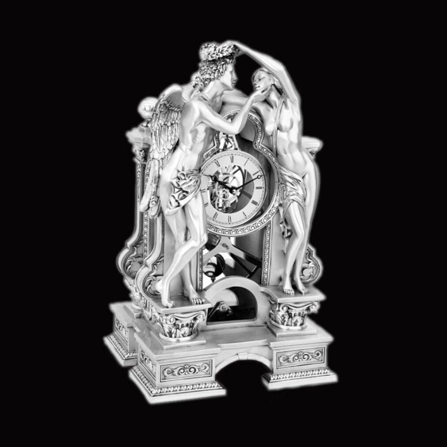 love-and-psyche-exceptional-silver-clock