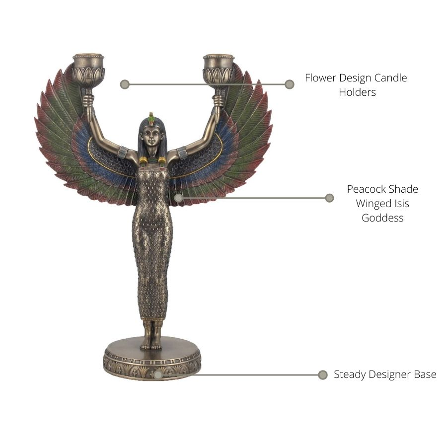 Isis Goddess Decorative Candle Stand